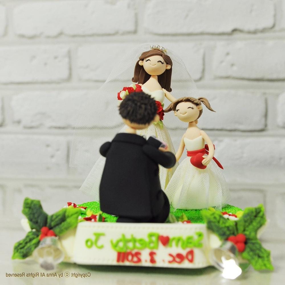 Happy family wedding cake