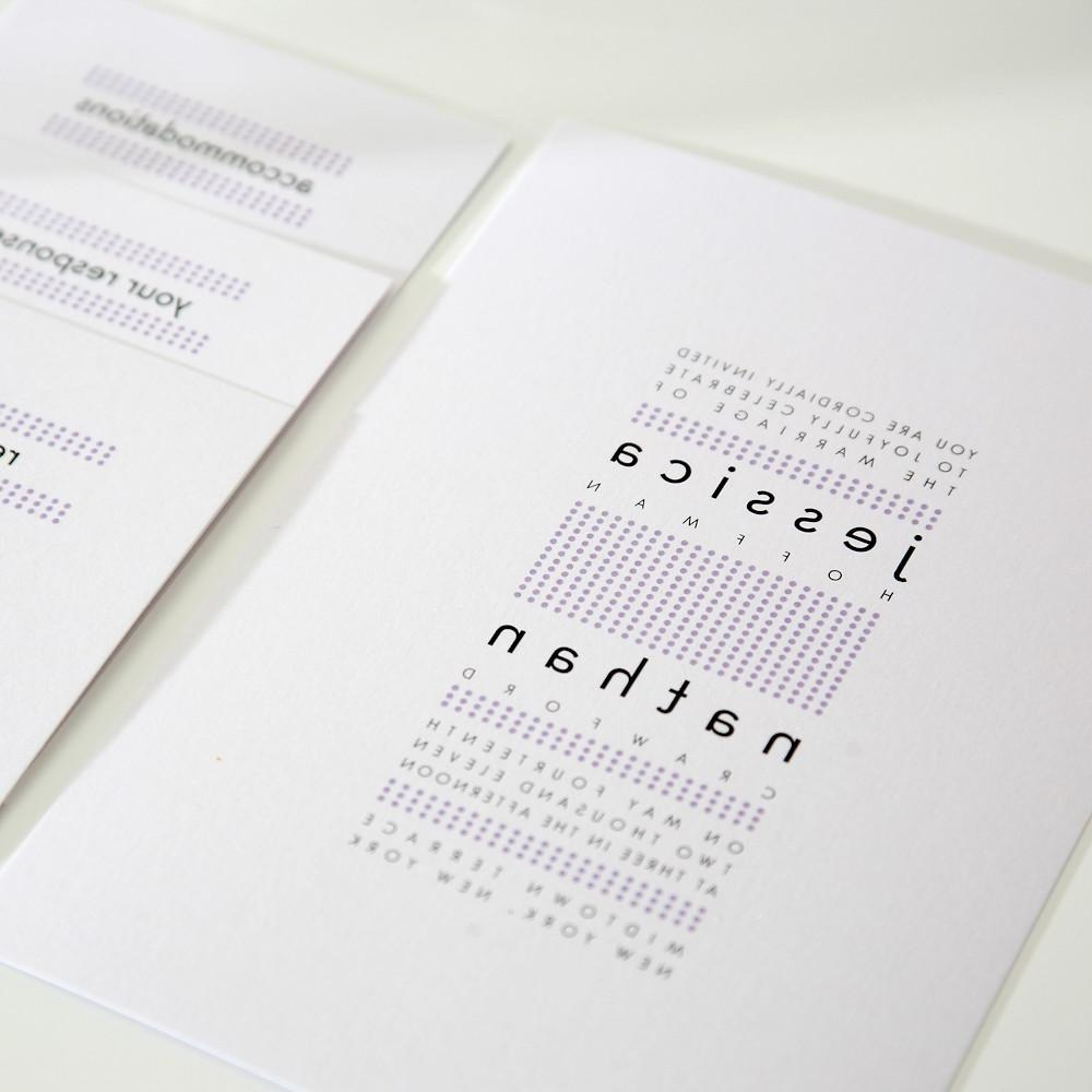 Modern Wedding Invitation in