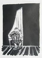 Dej BAO. 047 . Un Chemin dans la Pierre . 1977 .Lithographie . 36,5 x 27,5 cm
