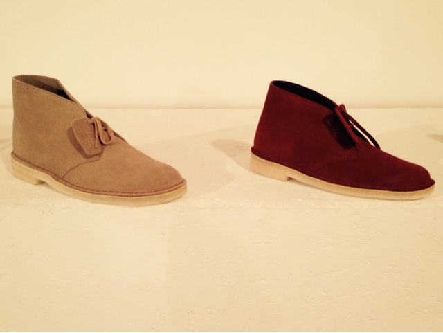 Clarks Originals Beige and Oxblood desert boots for summer