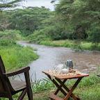 Morgenkaffee vor meinem Zelt, Ishasha Wilderness Camp © Foto: Marco Penzel   Outback Africa