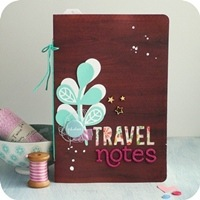 12 - sizzix big shot - scrapbooking mini album - fustelle