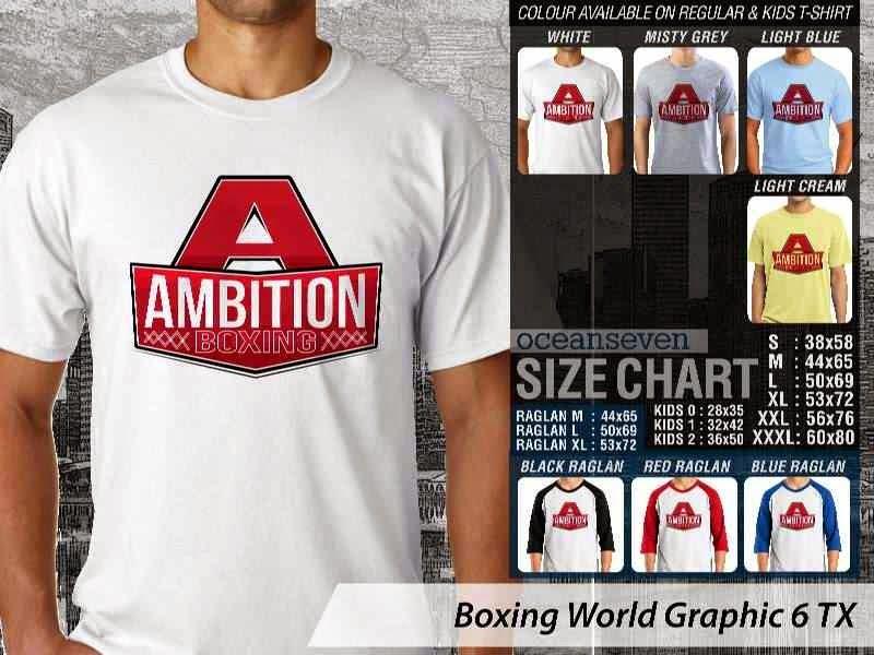 Kaos Olah Raga Sport Boxing World Graphic 6 distro ocean seven