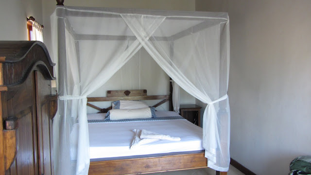 Our comfy room at Coral View Villas in Lipah.