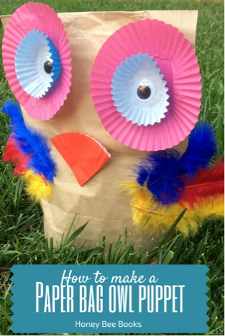 How to create a paper bag owl puppet