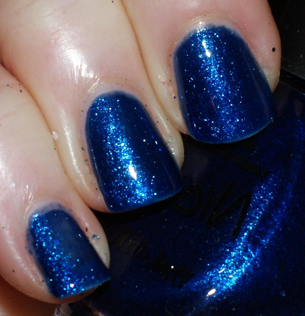 navy blue and candy apple