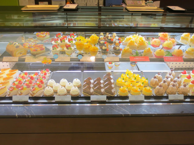 Some of the many, many desserts for sale at Iwataya