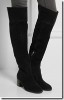 Michael Michael Kors black suede over the knee boot