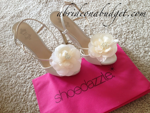 There was a time that ShoeDazzle had a Dazzle Ever After Collection with wedding shoes, purses, and more. The line is now defunct, but I still have these shoes to remind me of when it existed.