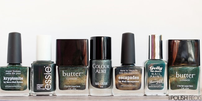 7-Shades-of-Green-Nailpolish-1