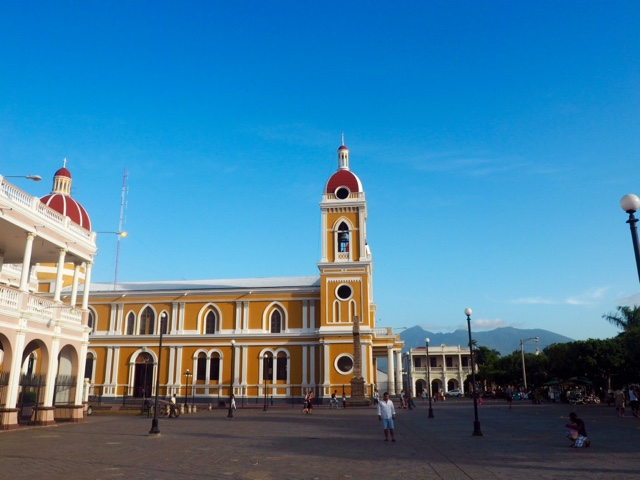 Main square and cathedral of Granada, Nicaragua