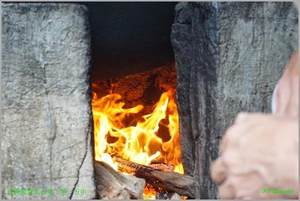 木材煮的米饭
