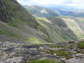 Looking down The Great Slab - Bowfell