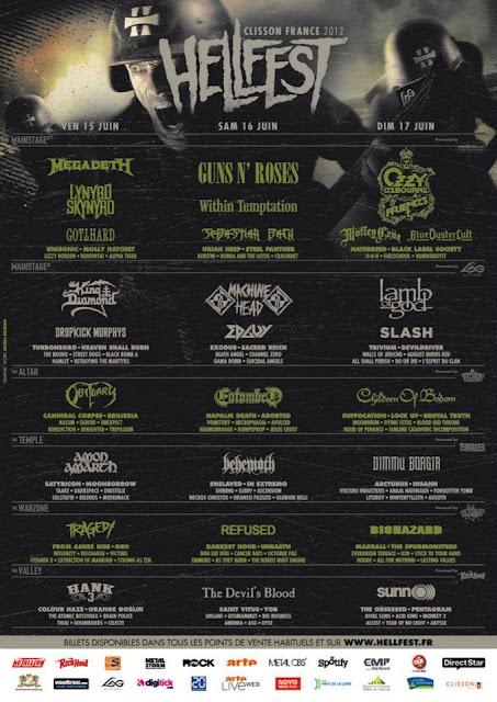 Hellfest 2012 @ Clisson 15,16 & 17/06/2012