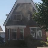 Woningbrand H. Hindersstraat 32 Oude Pekela - Foto's Teunis Streunding, Danny Middel en Otto Kerbof