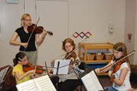 String players brushing up on their skills at NJIO summer string studio