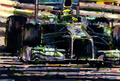 Нико Росберг - победитель Гран-при Монако 2013 - рисунок Rob Ijbema