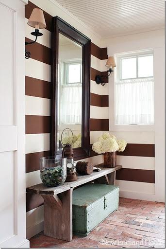 Molto Decorare le pareti con strisce dipinte - Case e Interni QJ97
