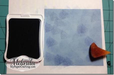 sponging blue-450