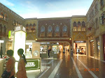 Inside the Venetian on the 3rd floor where all the shops and such are located