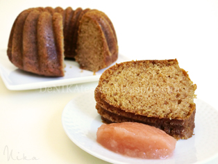 mini applesauce bundt cake