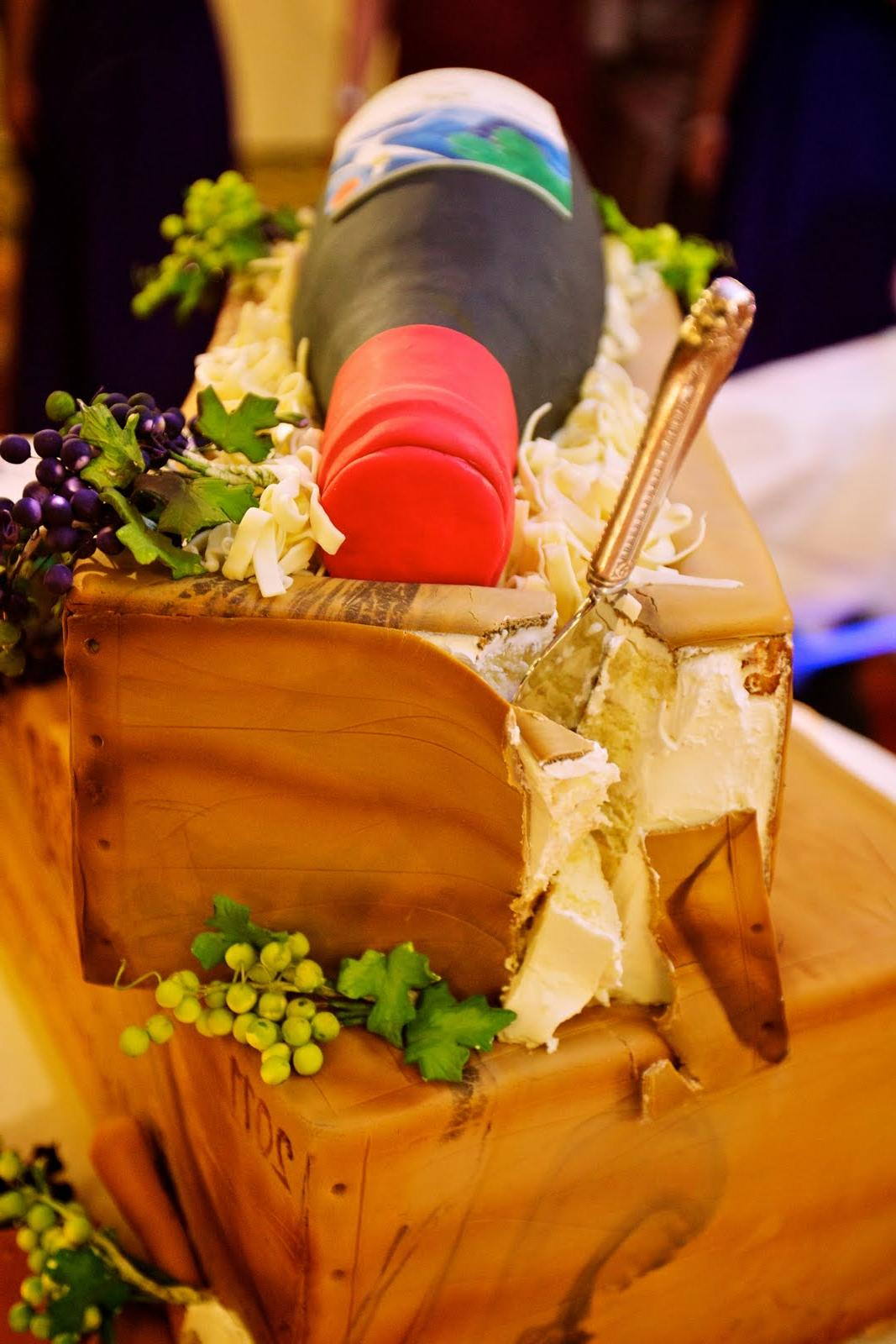 Wine Theme Wedding Cake