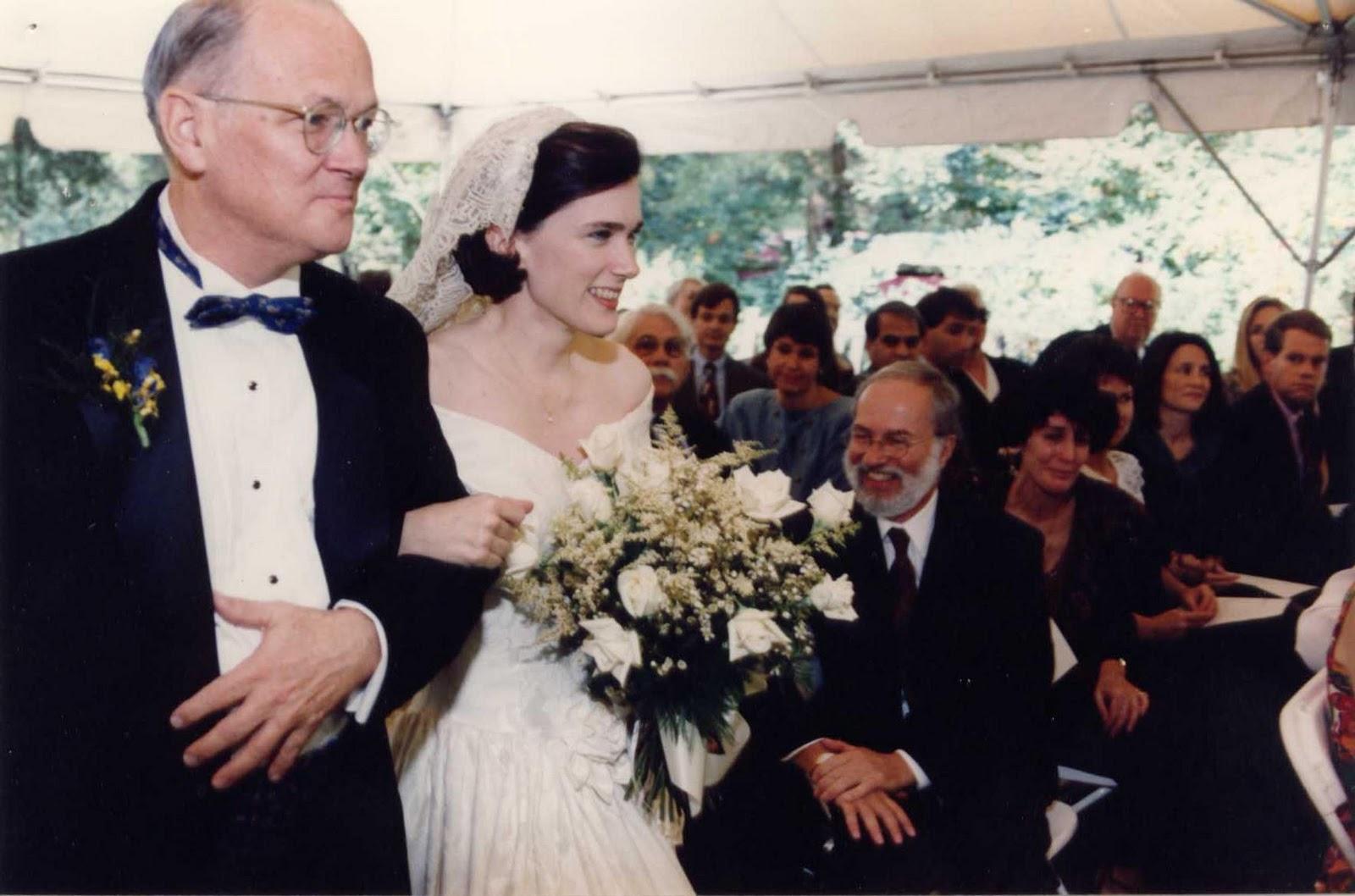 At Tim & my wedding     both of