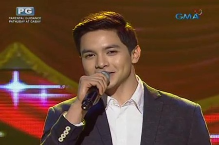 Alden Richards singing Thinking Out Loud
