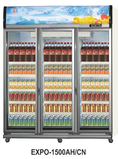 Mesin Pendingin Minuman 3 Pintu (Display Cooler) Kapasitas 1500 Liter : EXPO-1500AH/CN