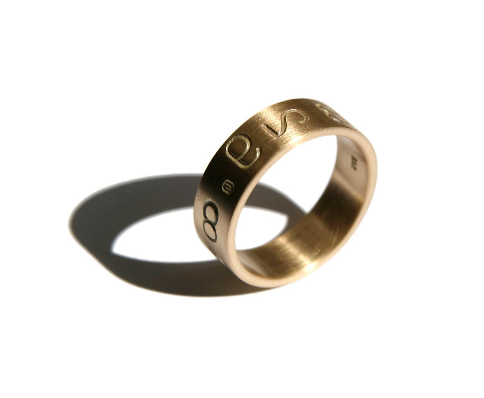 mens wedding band on hands