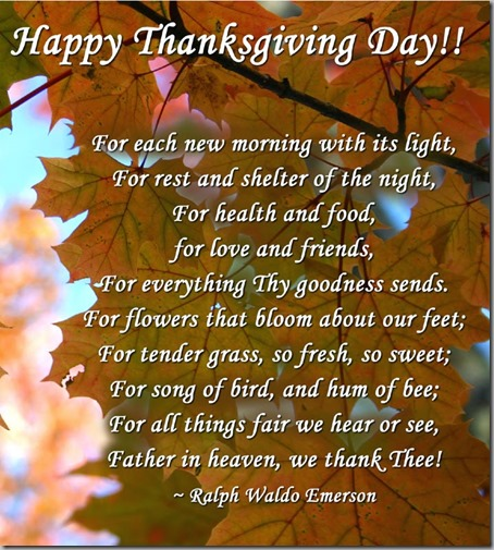 happy thanksgiving day poem