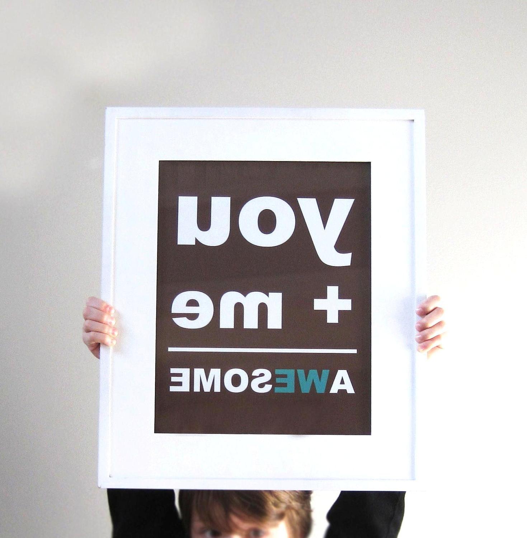 11x14 Print, Brown, Teal,