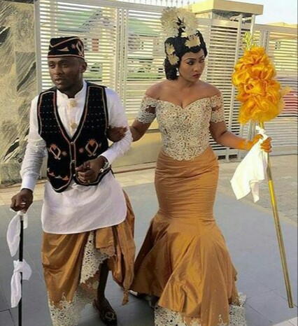 Cross river wedding  attire