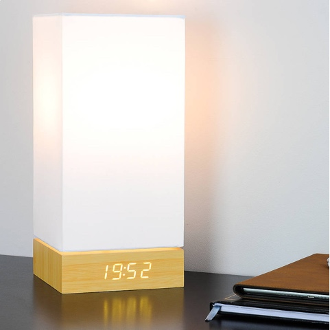 Gingko Click Clock Lamp