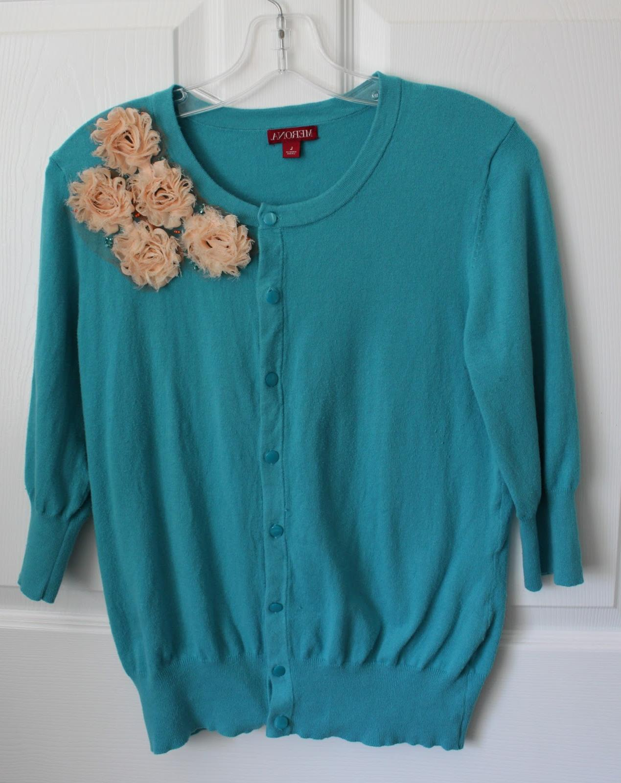 was the turquoise cardi: