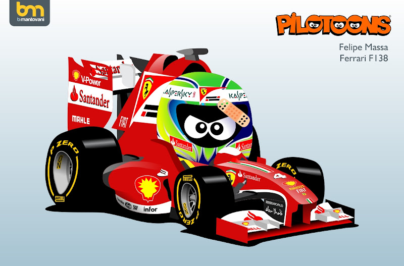 Фелипе Масса Ferrari F138 pilotoons 2013