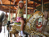 Hannah riding on the carousel at the Nashville Zoo 09032011