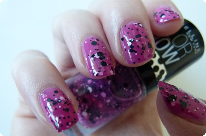 maybelline pink polka dots