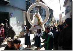 Potosi Umzug für La Virgen del Rosario