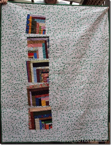 finished quilt from back