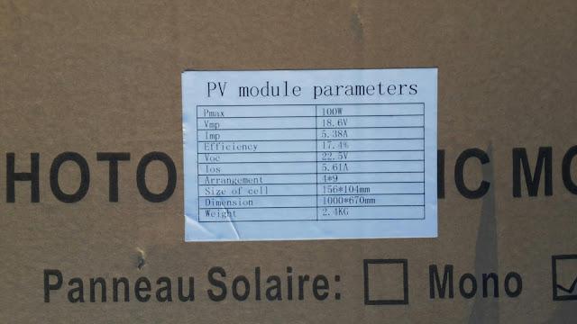plaque signalétique panneau solaire