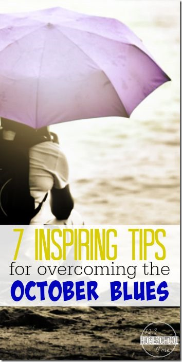 7 Tips for overcoming the October Blues in your homeschool