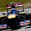 Daniel Ricciardo on 2 wheels with his Toro Rosso STR8