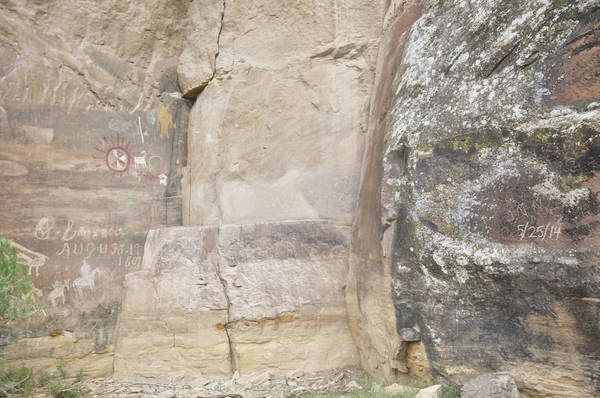 Prehistoric rock art defaced in Utah