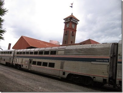 IMG_6183 Amtrak Pacific Parlour Lounge Car #39970 Columbia Valley at Union Station in Portland, Oregon on June 7, 2009