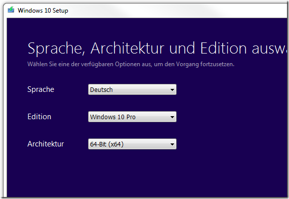 Windows 10 vom USB Stick installieren Teil 1