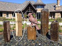 H72 X 18-24 Basalt Column Fountain.  1-3/8in hole.