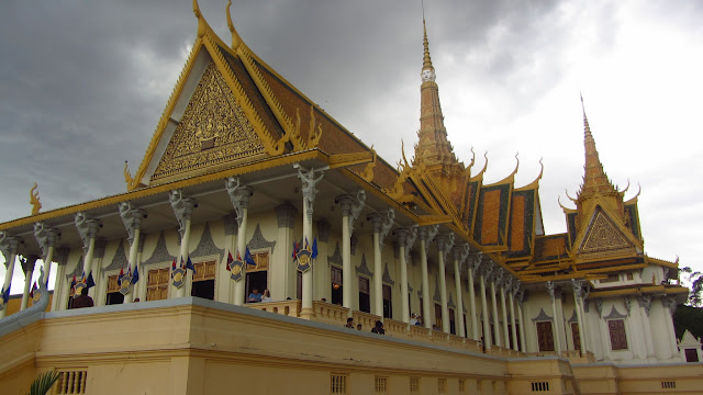 Rain clouds gathering over the Royal Palace in Phnom Penh.
