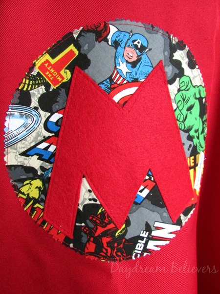 Handcrafted Personalized Superhero Dress Up Capes with Custom Emblem by Daydream Believers