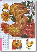 gallos y gallinas punto de cruz (8)